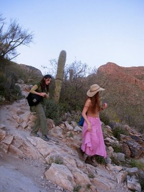 Fairy hikers return (sunset in the Catalinas)